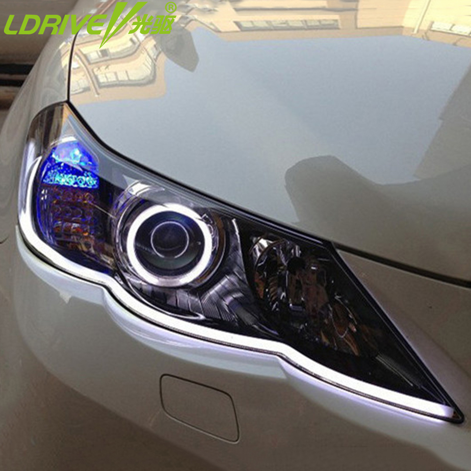 Hot-2PCS-30cm-45cm-60cm-80cm-DRL-Flexible-LED-Tube-Strip-Style-Daytime-Running-Lights-Tear