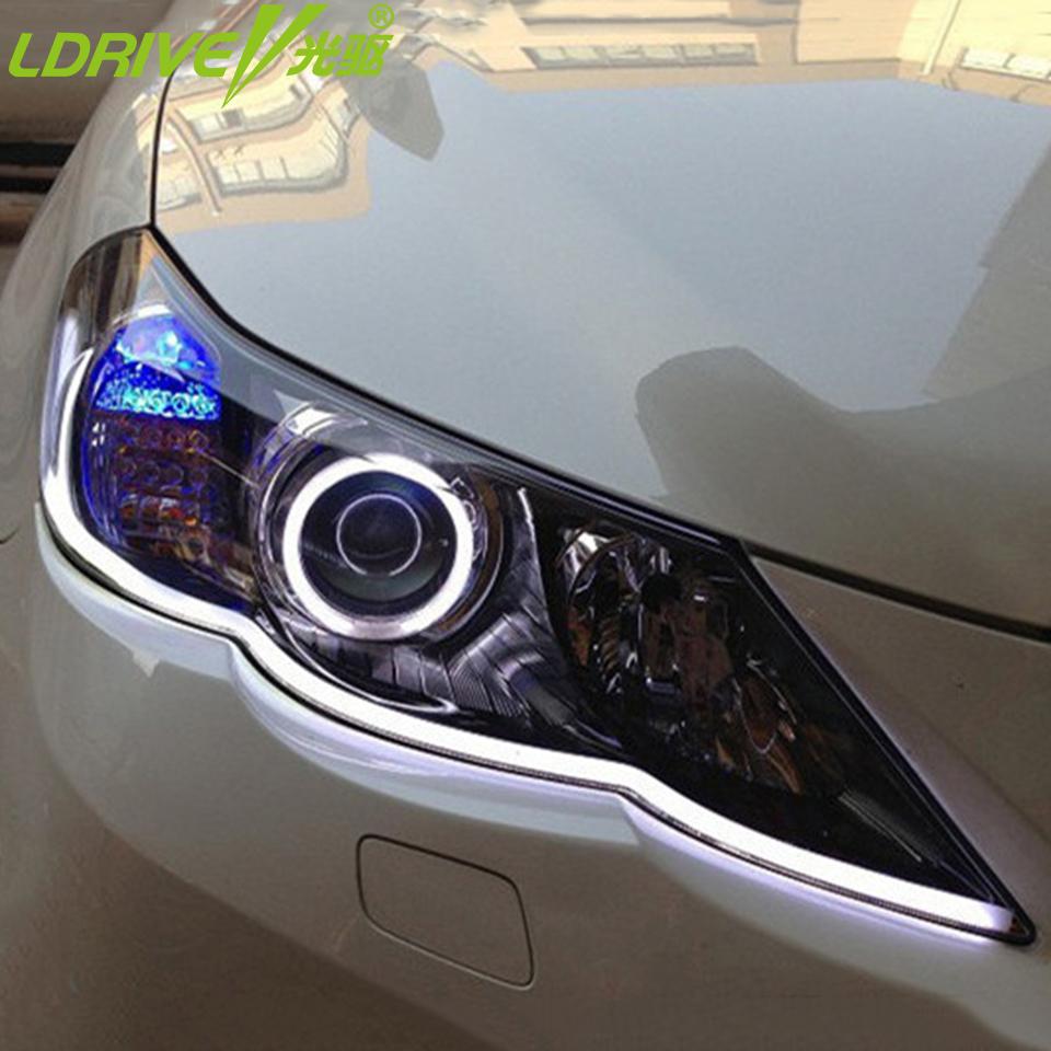 Hot-2PCS-30cm-45cm-60cm-80cm-DRL-Flexible-LED-Tube-Strip-Style-Daytime-Running-Lights-Tear