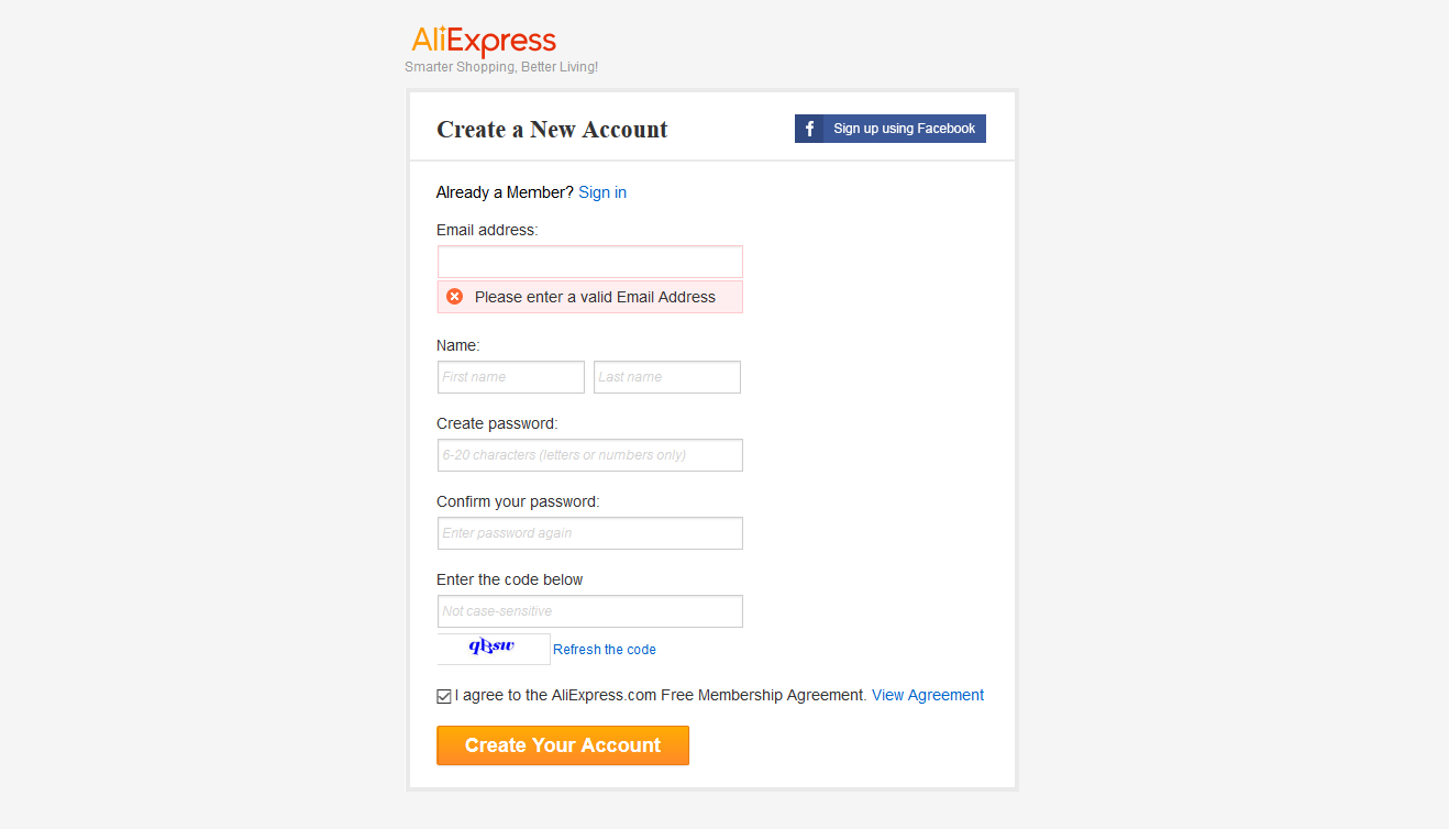How to register on Aliexpress 52